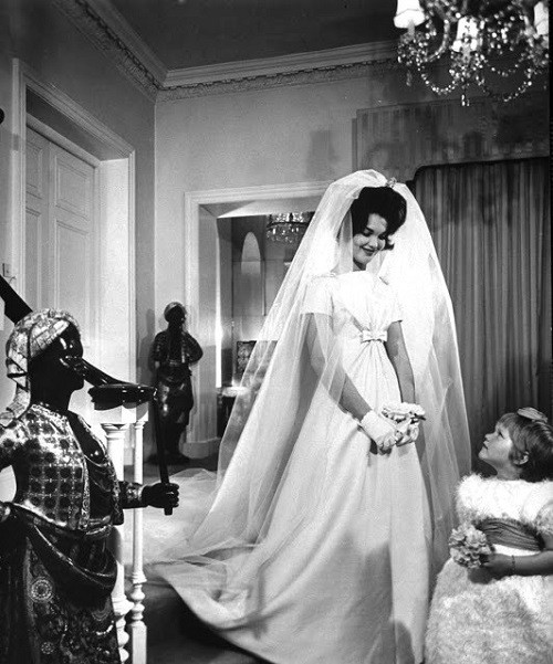Duchess of Bedford in a beautiful wedding dress, 1961