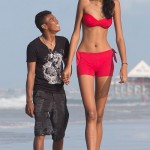 Tallest girl in the world 18-year-old Elsani da Cruz Silva has growth 203 centimeters. While her boyfriend 23-year-old Frantsinaldo da Silva is barely 163 centimeters