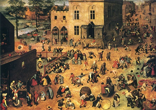 Children's Games (1560) painting by Netherlandish Renaissance painter Pieter Bruegel the Elder