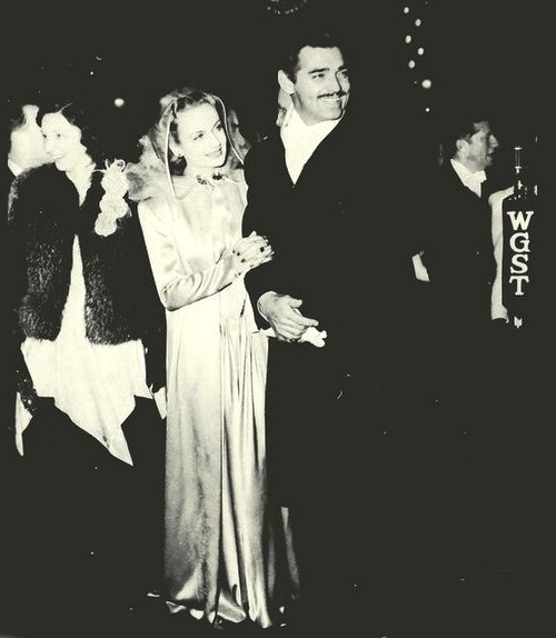at the premiere of 'Gone With the Wind', December 15, 1939