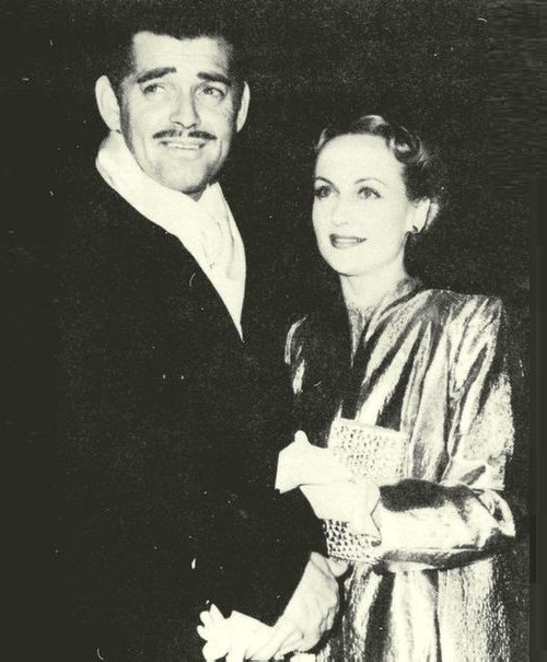 Clark Gable and Carole Lombard at the premiere of 'Gone With the Wind'