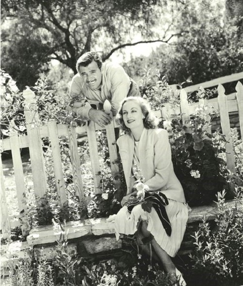 Clark Gable and Carole Lombard at their ranch