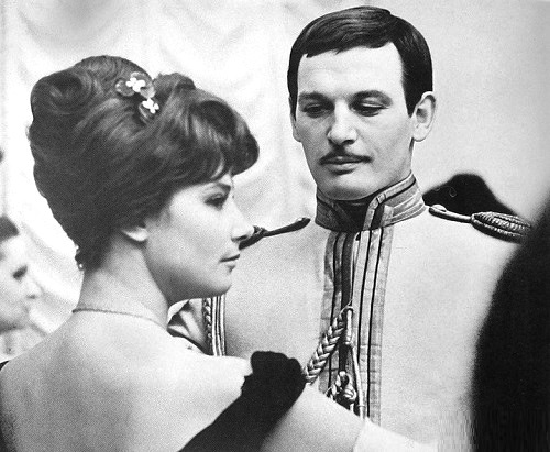 Vasily Lanovoi as Vronsky and Tatiana Samoilova as Anna Karenina, in the the Soviet eponymous film of 1967