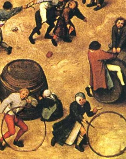 detail of Children's games, 1560