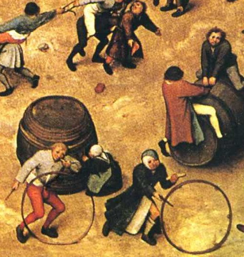 detail of Children's games, 1560
