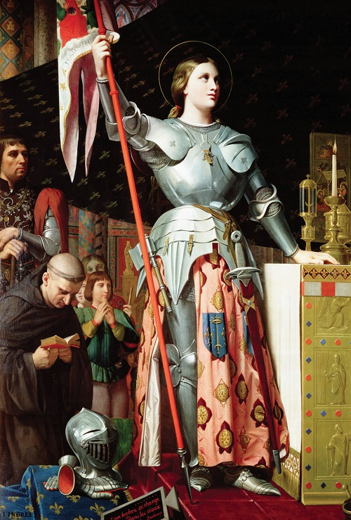 Jean Auguste Dominique Ingres, 1854. Jeanne of Arc at coronation of Charles VII