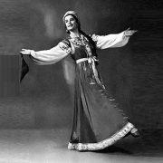 Folk dance, Russian ballerina Olga Zabotkina