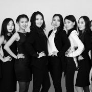 2016 photo of beauty contestants in Ulan-Ude, Buryat