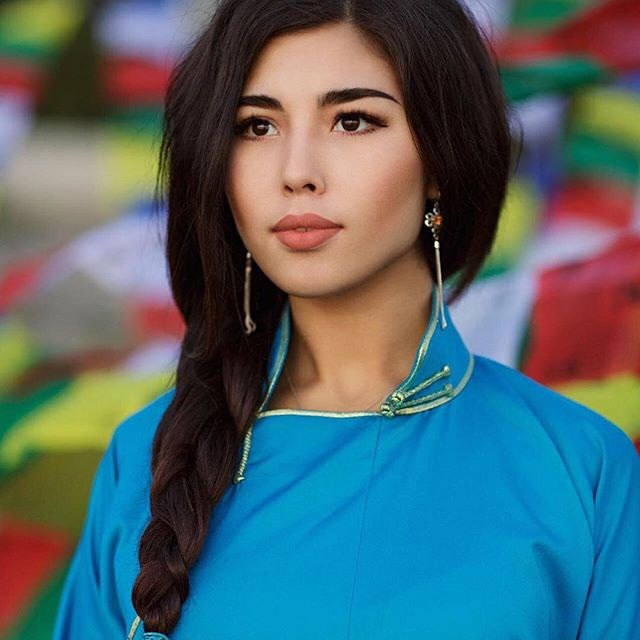 Gorgeous Buryat girl, contestant of beauty pageant Dangina