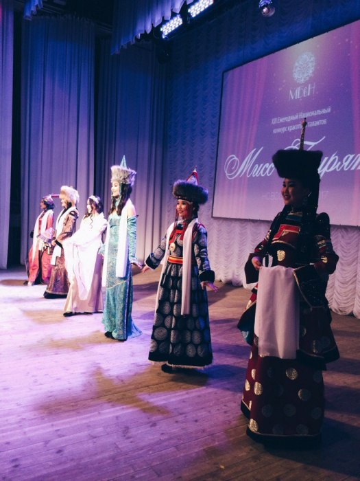 Miss Buryat beauty pageant in Novosibirsk, March 2017