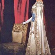 In Russian folk costume, Ingrid Bergman
