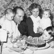 Rossellini and Bergman with their children