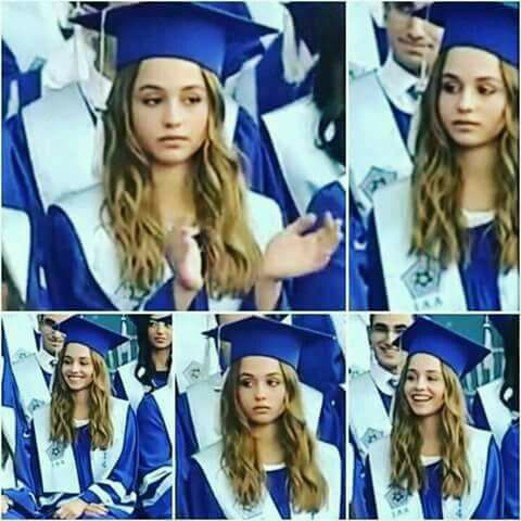 At her graduation ceremony in 2014, princess Iman