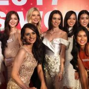 Contestants of beauty pageant, Manushi - in the center