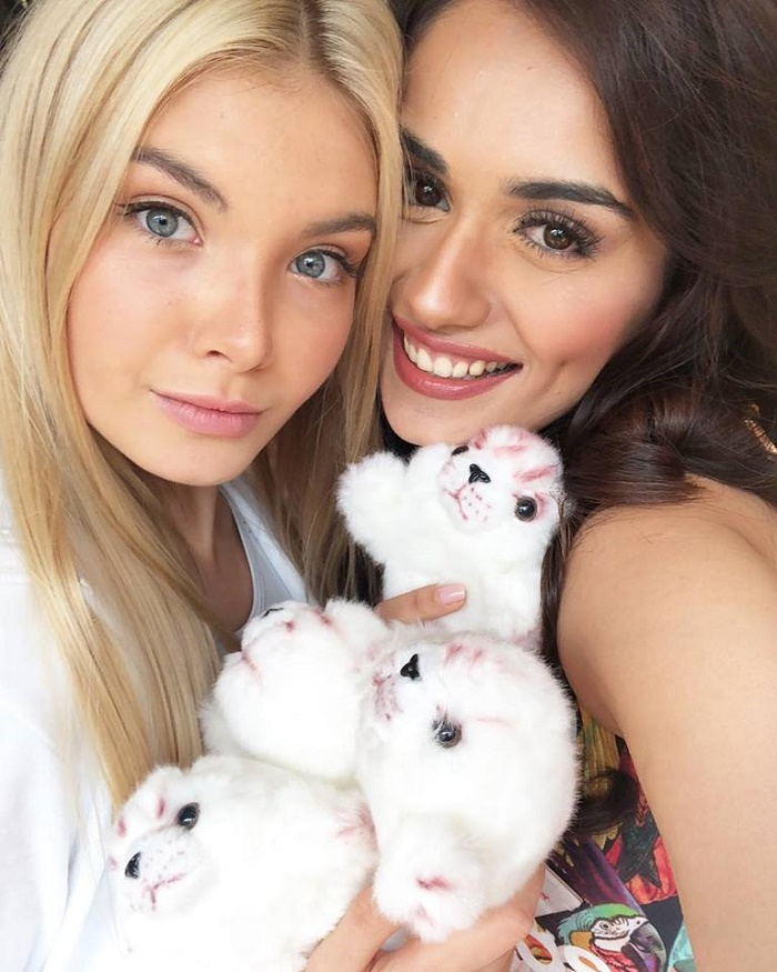 Russian beauty Polina Popova and Miss World 2017 Manushi Chhillar
