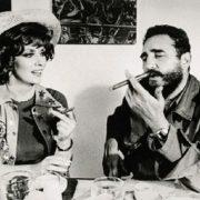 Fidel Castro and Gina Lollobrigida