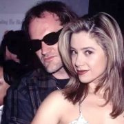 Romantic couple Quentin Tarantino and Mira Sorvino