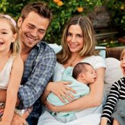 With children and a young husband. Desperate Housewife Mira Sorvino