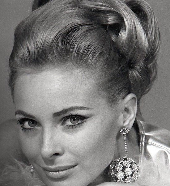 Photographed in 1966, Beauty icon Swedish actress Camilla Sparv