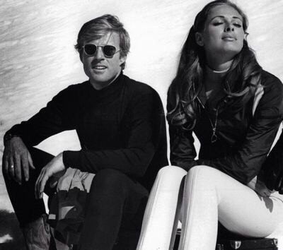 Robert Redford and Camilla Sparv in Downhill Racer, 1969