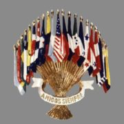 Emblem of the Americans. Coro. 1941. Manufacturer Cohn & Rosenberg Inc., designer Lester Gaba