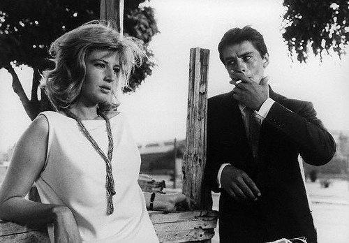 Alain Delon and Monica Vitti in the film 'Eclipse'