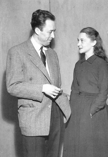 Albert Camus and actress Maria Casares