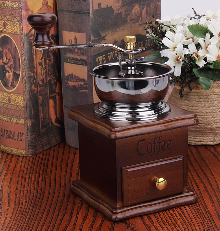 Antique Hand Coffee Bean Grinder