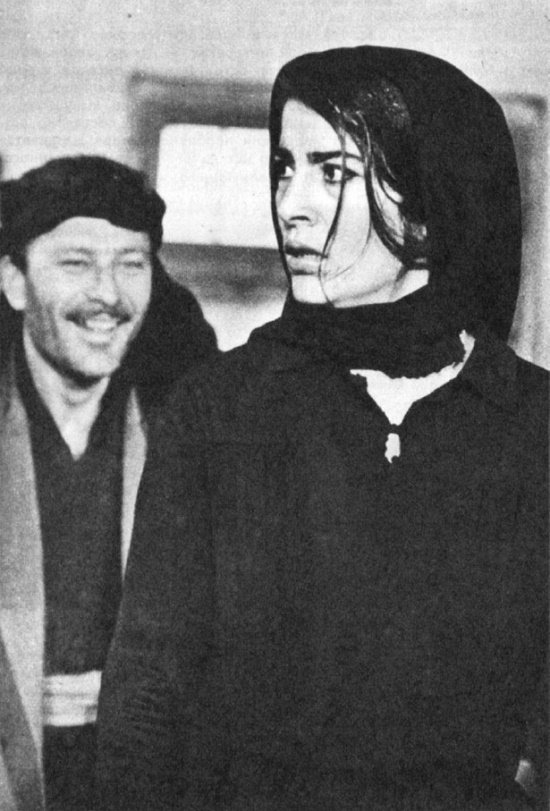 As the widow, in the film 'Zorba the Greek' (1964)