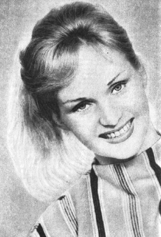 Blonde beauty, Polish film actress Barbara Krafftowna