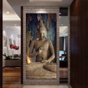 Buddha in brown interior