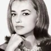 Ideal of intellectual femininity actress Jeanne Moreau