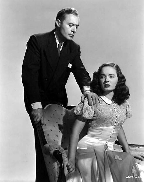 Charles Boyer and Ann Blyth, promotional photo, 'A Woman's Vengeance' (1948)