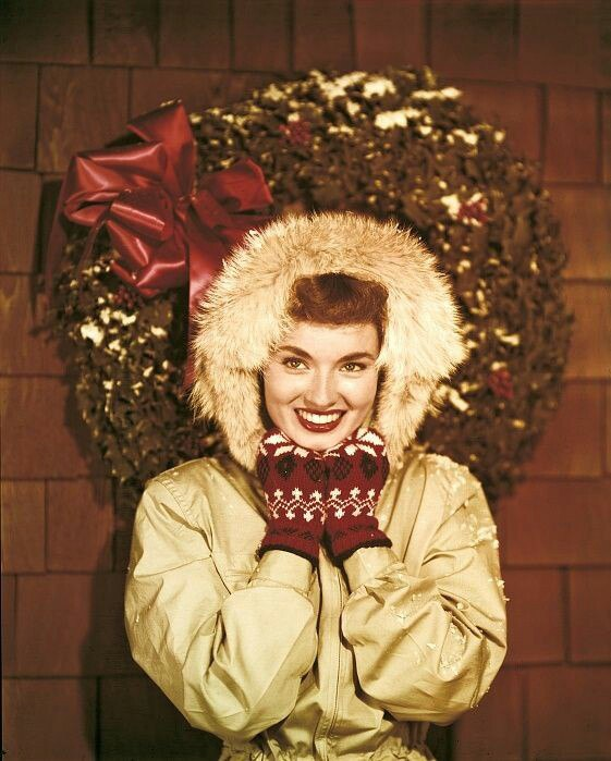 Christmas photo, Ann Blyth