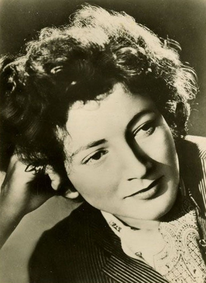 Cinema and theater actress Valentina Cortese