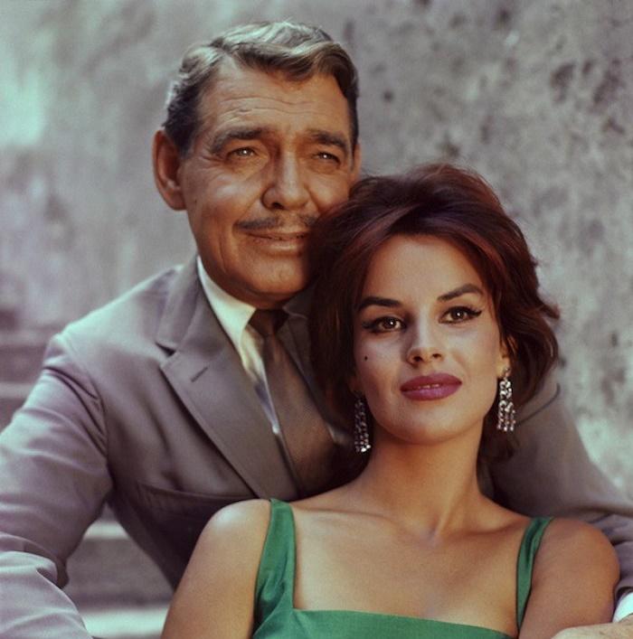 Clark Gable and Antonella Lualdi