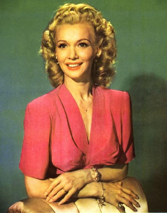Colored photo, American beauty Carole Landis (1 January 1919 – 5 July 1948)