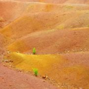 Colorful sands of Chamarel
