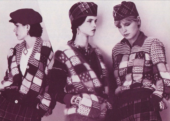 Designer Patricia Roberts. Angora wool sweaters