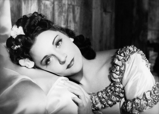 Duchess Gina de San Severina (actress Maria Casares) in 1948 film The Charterhouse of Parma