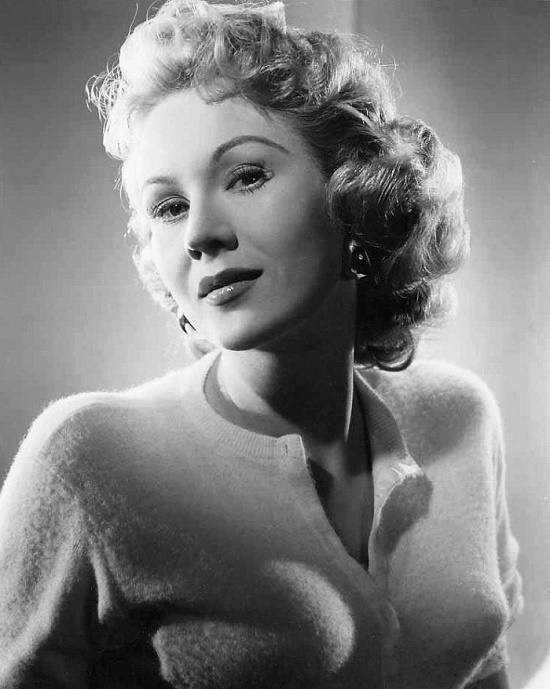 Early 1950s, Hollywood actress Virginia Mayo