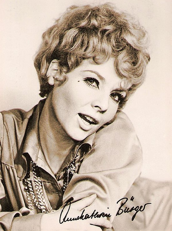 East German actress Annekathrin Burger