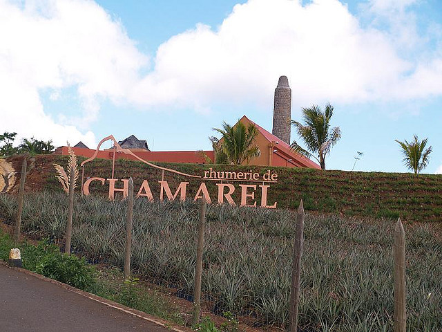Entrance to the village of Chamarel