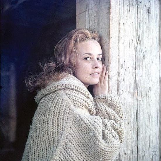 Famous actress Jeanne Moreau
