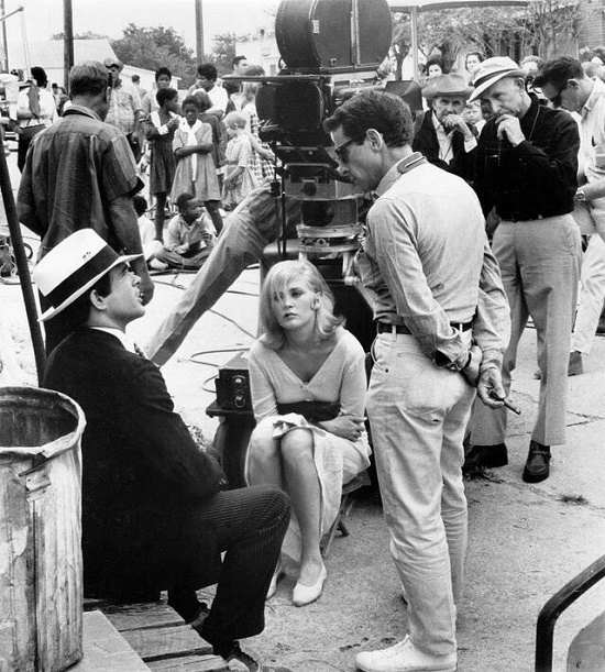 Filming Bonnie and Clyde, Texas, 1967 (Beatty and Faye Dunaway with director Arthur Penn)