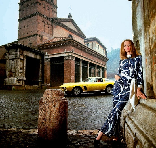 Franco Rubartelli's photo, Rome, 1969. Legendary fashion model Veruschka