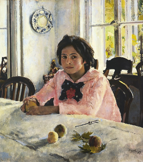 Girl with Peaches. 1887. The State Tretyakov gallery. Red maple leaf meaning