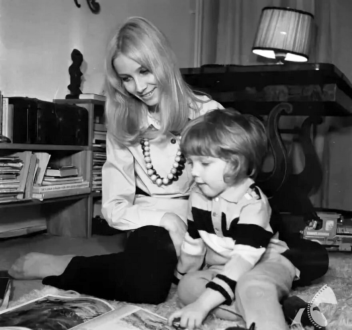 Happy mother with her son Martin in 1971