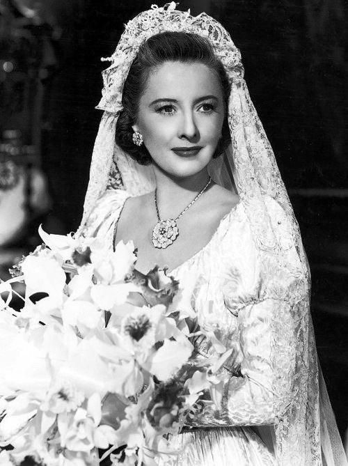 In a wedding dress