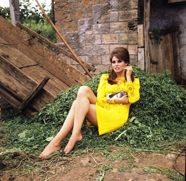 In a yellow dress. 1965